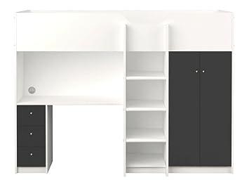 Etagenbett Grau : Etagenbett max mit bettkasten grau möbel zeit