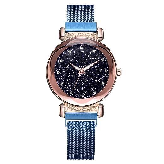 DAYLIN Relojes Mujer Chica Moda Pulseras Reloj de Cuarzo Analogico Correa de Malla Reloj Deportivo Mujer