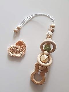 Babyschalenanhänger aus Silikonperlen Maxicosianhänger Kinderwagenanhänger Jade