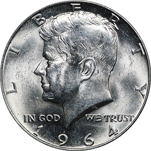 1964 P Kennedy Silver Half Dollar, BU 50C Brilliant Uncirculated