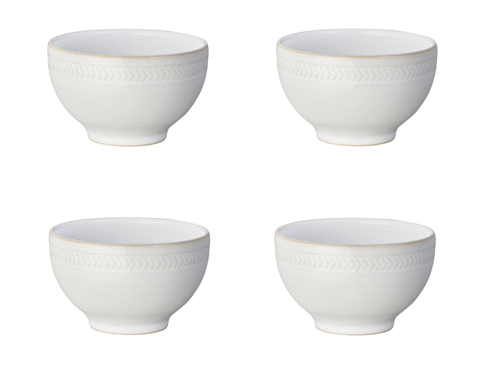 Denby Natural Canvas Chevron Small Bowl, Set of 4
