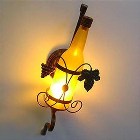 Z&MDH Lámpara de pared de estilo europeo, lámpara de pared de hierro, barra de