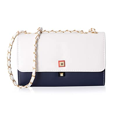Image Unavailable. Image not available for. Color  Navy and White Flap Over  Crossbody Bag ... 793d63ccf5f4a