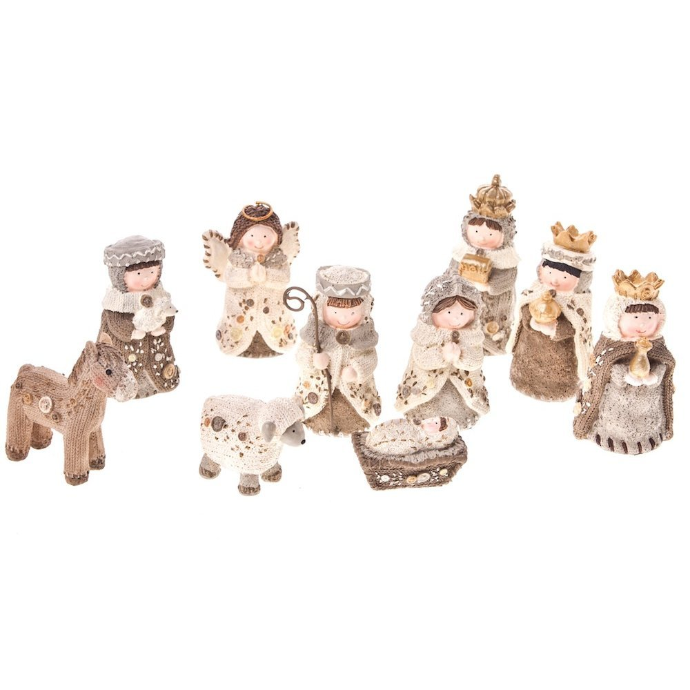 Heaven Sends 10 Piece Ceramic Nativity Set