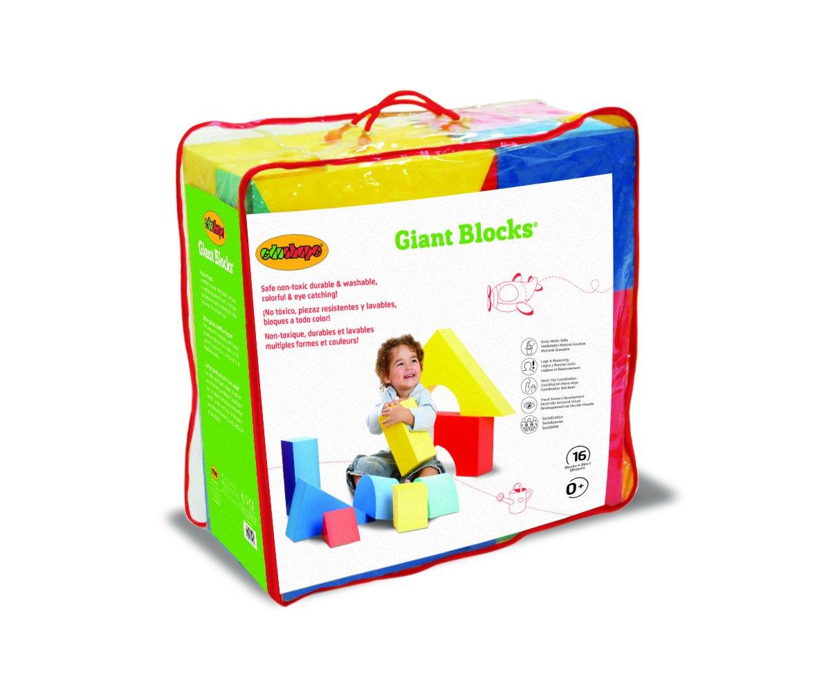 4 1//3 16 Edushape Giant Blocks Bag