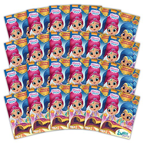 - Bendon 42547-Amzb Shimmer and Shine 32-Page Activity Book with Stickers (24-Count)