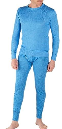 Classic Mens Thermal Underwear Set Long Sleeve Top & Long John