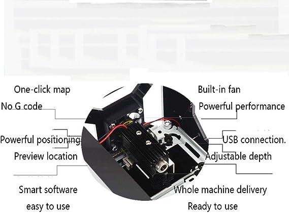 GNXTNX Nueva Mini Máquina De Grabado Láser Plotter De Impresión ...