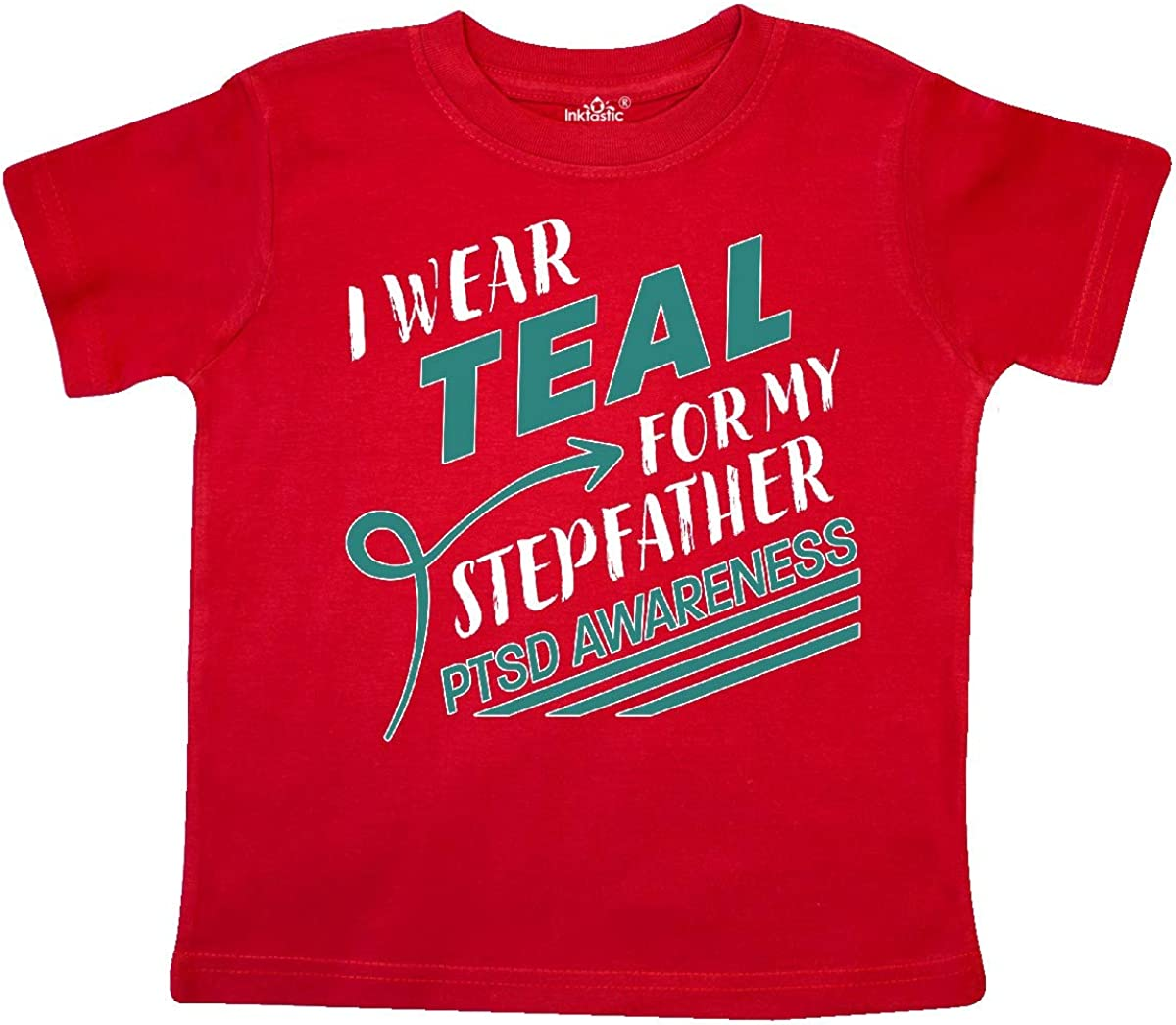 inktastic I Wear Teal for My Stepfather PTSD Awareness Toddler T-Shirt