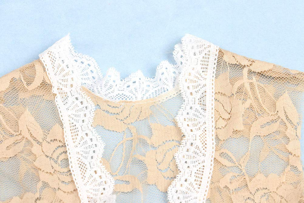 iSpchen Newborn Baby Kids Photography Props Lace Backless Baby Girl Boys Romper Outfit Clothes Gift White