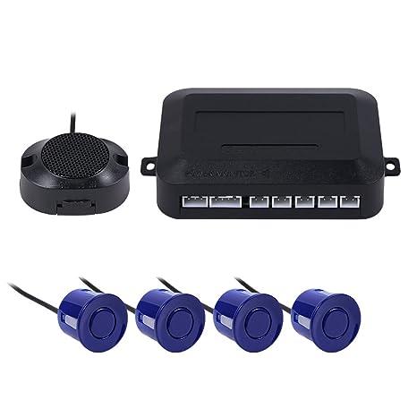 Teckey LED sensor de aparcamiento exhibición de 4 sensores 12V radar monitor sistema para todos los