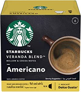 STARBUCKS Veranda Blend by NESCAFÉ Dolce Gusto Blonde Roast Coffee (12 Capsules)