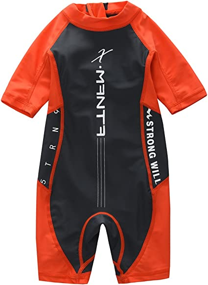 M2C X-Manta Boys Girls Rash Guard Swimwear Sun Protective Two Pieces Bathing Suits