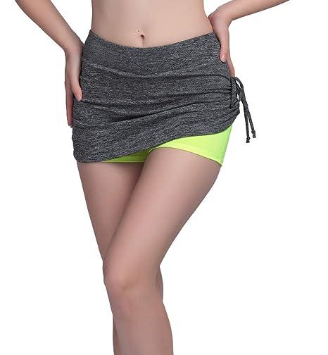 DKXLW Pantalones Cortos De Mujer,Las Mujeres Gris Verano Falda ...