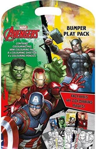 Libro para colorear Z-TECH, UK Bumper Play Pack, Marvel Avengers ...