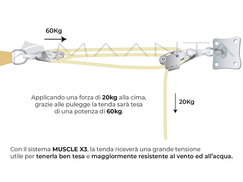 Maanta Muscle Ancoraggio - Cortina de Vela, Color Beige