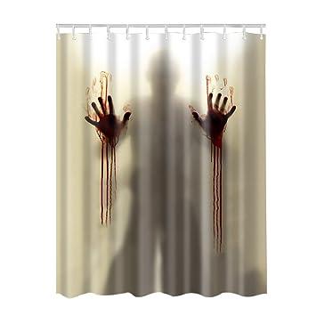 Amazoncom Adarl Waterproof Bath Curtains Bathroom Shower Curtain