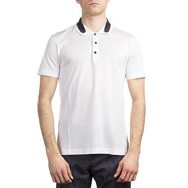22aa6a74a8f5d Balenciaga Men's Cotton Short Sleeve Polo Shirt White at Amazon ...