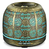 Upgraded Version 500ml Essential Oil Diffuser for Large Room, ARVIDSSON Premium Metal Ultrasonic Diffusers for Essential Oils, Cool Mist Humidifier, 7 Colors LED Light & Whisper-quiet