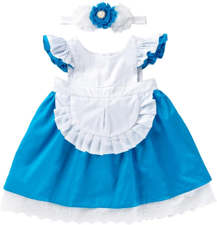 Alice con fascia per capelli 6-12 mesi-Abito Paese Delle Meraviglie Costume Bambino Fancy Girls