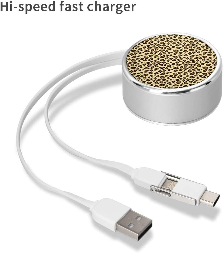 Stylish Leopard Print Multi/USB/Cable/Type-C/Cable/Fast/Charging/Cable/Compatible/with/iPhone,Android/Smartphones,Tpye-C/Universal/Interface/Mobile/Phones/and/Tablets
