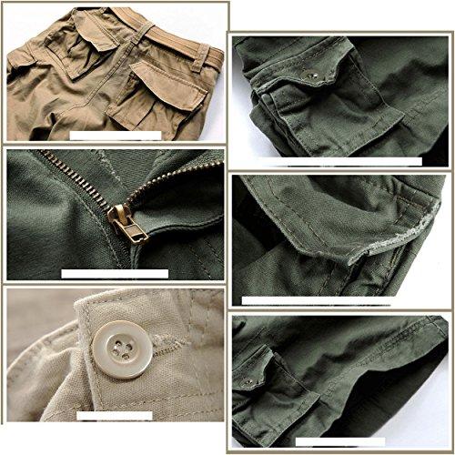 Cintura Pantaloni Militare All'aria Uomini Nero Colori senza Aperta Cargo Pant Cotone Lanmworn Camo 11 8 Sciolto Leopardo Estate Esercito Pantaloncini Camouflage Tasche Aqw4Rx