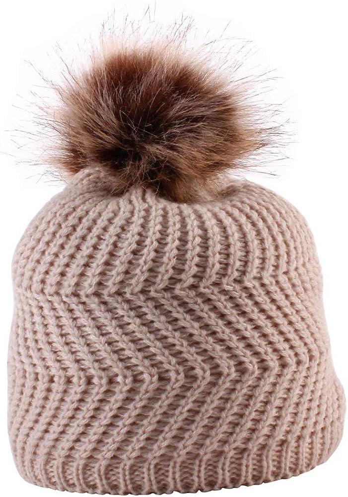 QinMM bebé Gorro de Punto cálido Invierno 0-36 Meses bebé niño ...