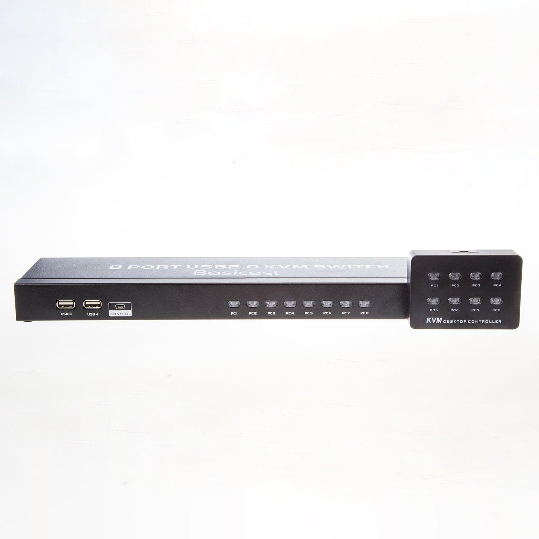 Basicest/® BAS2149 Freedom Black 8 Ports Electronic VGA Switch Box KVM Switch