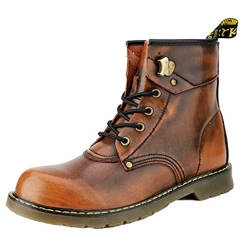 Botas De Trabajo para Hombre Puntera De Acero Ligero Impermeable Zapatillas De Deporte Zapatos Martin Botas Retro Botines Altos De Invierno: Amazon.es: ...