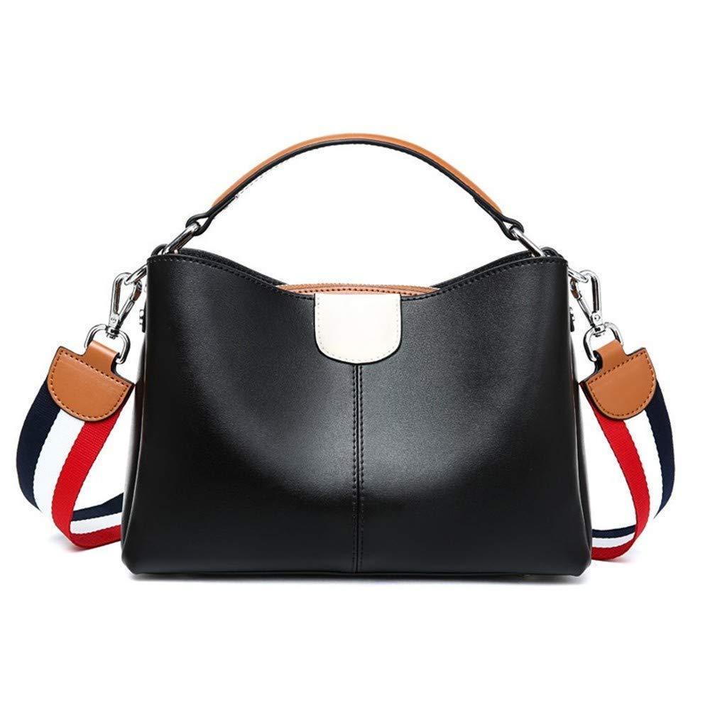 Leder Crossbody weibliche koreanische Version der Farbe Schlagen Schwein Tasche Schulter Kette Mini-Tasche, schwarz B07HV5FMQY Henkeltaschen