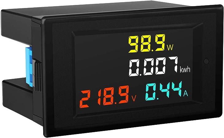 TYUIOP AC 80 to 260V LCD Digital 100A Volt Watt Power Meter Ammeter Voltmeter 110V 220V