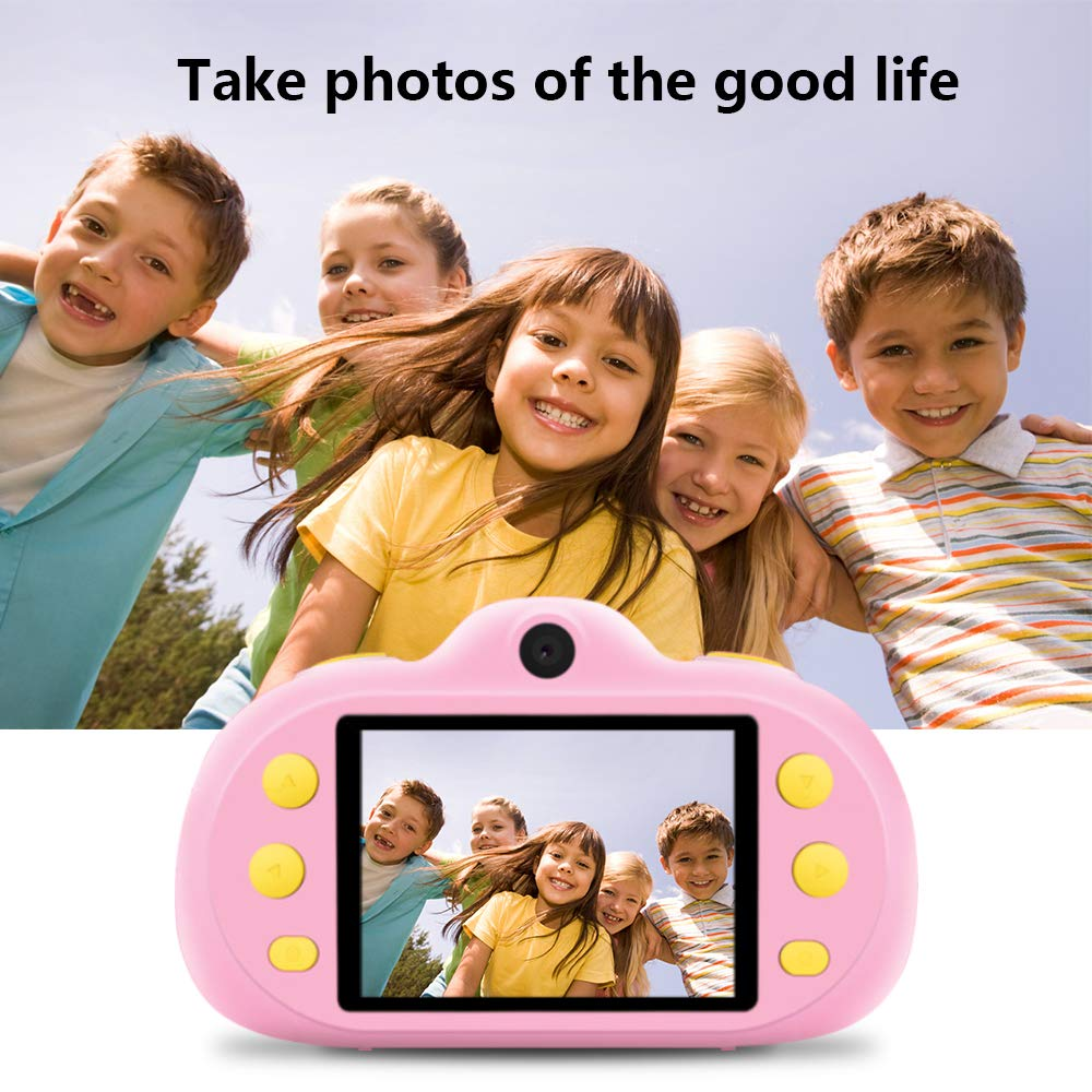 Huaker Kids Camera ,2.4Inch Screen Digital Camcorders Camera Rechargeable 8MP Children's Camera with Silicone Soft Cover for 3-10 Year Old Boys Girls Party Outdoor Play by Huaker (Image #9)