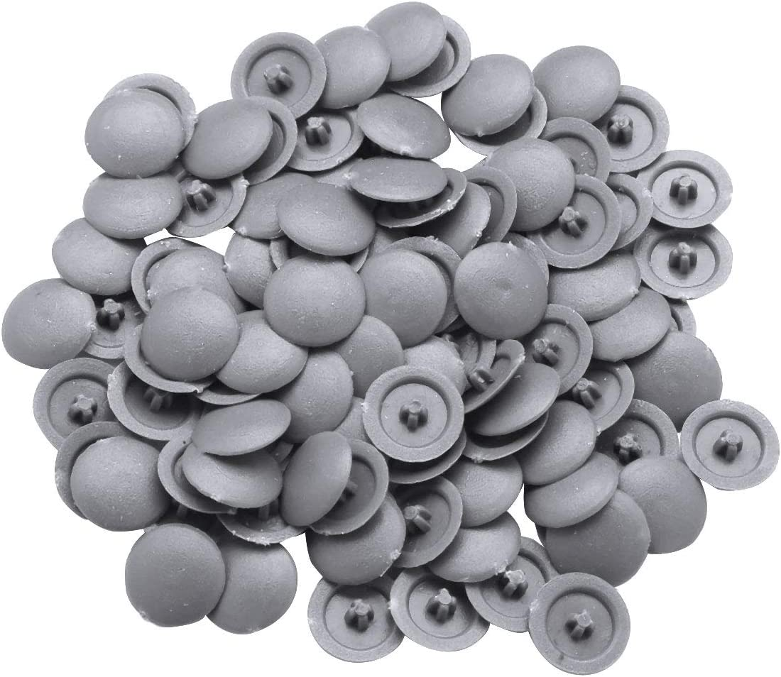 Color : Beige TSAKJ Pack of 100 Round Shaped Plastic Self-Tapping Screw Cap Covers for Diameter 11mm Flat Phillips Screw Lids Furniture Fittings