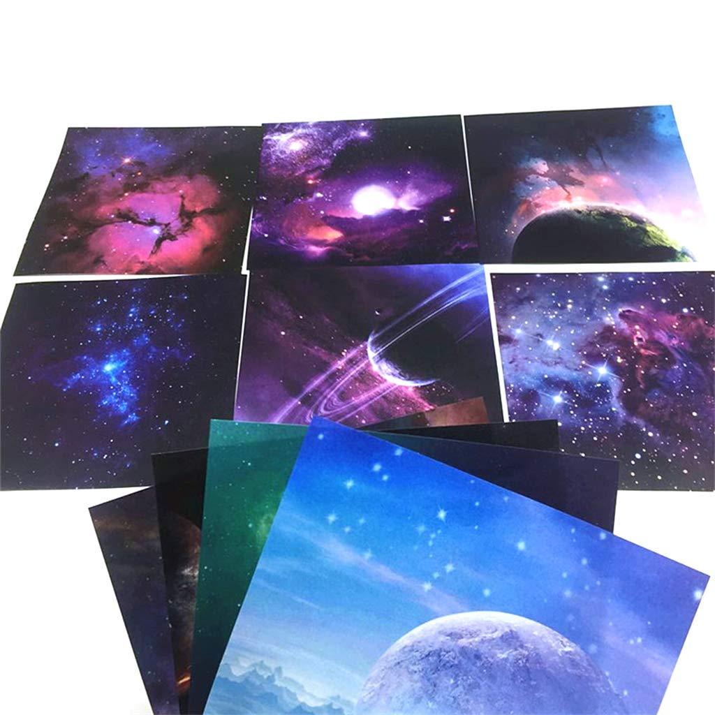 KINTRADE Scrapbooking Origami Papier 70 Feuilles Art Fond Univers Univers Plan/ète Lune Papier Carte Faire Craft
