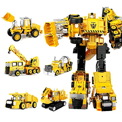 Moonio 5 in 1 TransTruck Transform Collection Tractor Robot Creative Combination Titan Robot Toys for - Toys Transformer Collection