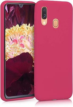 Uposao Compatibile con Samsung Galaxy A40 Custodia Portafoglio Donna Farfalla e Ragazza Brillante in PU Pelle Silicone Magnetico Flip Protettivo Borsa Cover,Ananas Viola