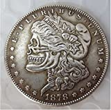 Rare Antique USA United States 1878cc Morgan Dollar Skull Zombie Silver Color Coin