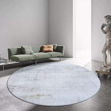 AOLI Nordic ronda alfombra blanca patrón de mármol Alfombras ...