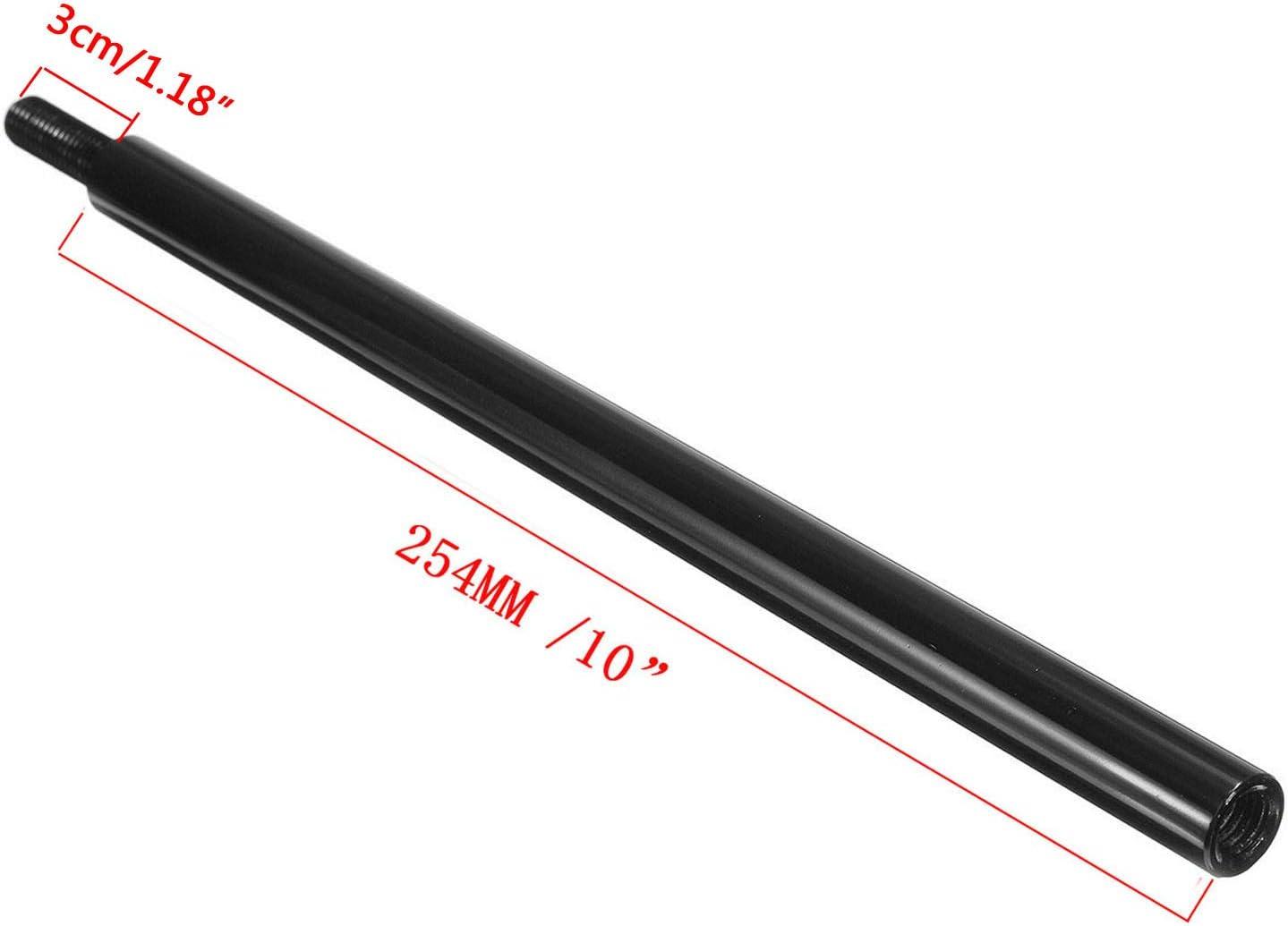 Pursuestar 10 Inch Black Aluminum Shift Knob Extender Extension for 5 6 Speed Manual Gear Shifter Lever 12X1.25