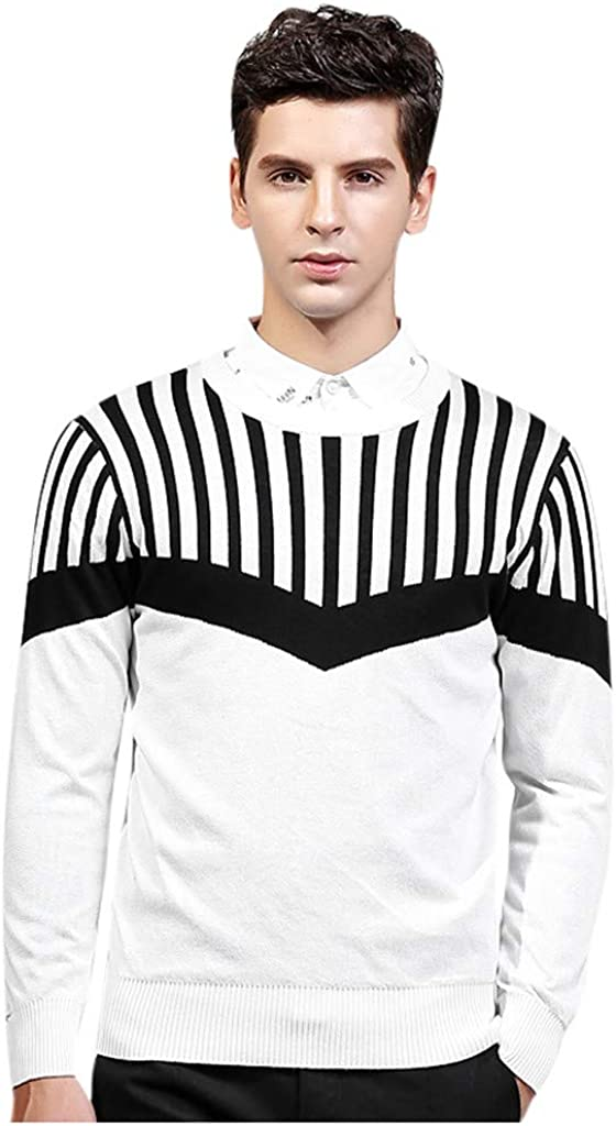 GDJGTA Shirt for Mens Autumn Winter Casual Pure Color Turtleneck Long Sleeve Knitted Sweater Top