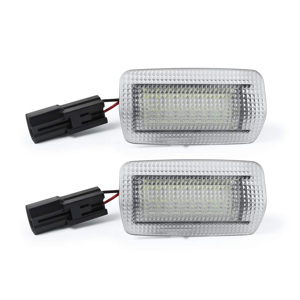 Toyota Camry Sienna Limited 4Runner Limited Venza Land Cruiser Highladner Sequoia Avalon Prius GemPro 2PCS Xenon White LED Side Door Courtesy Light For Lexus IS ES LS RX GX LX GS