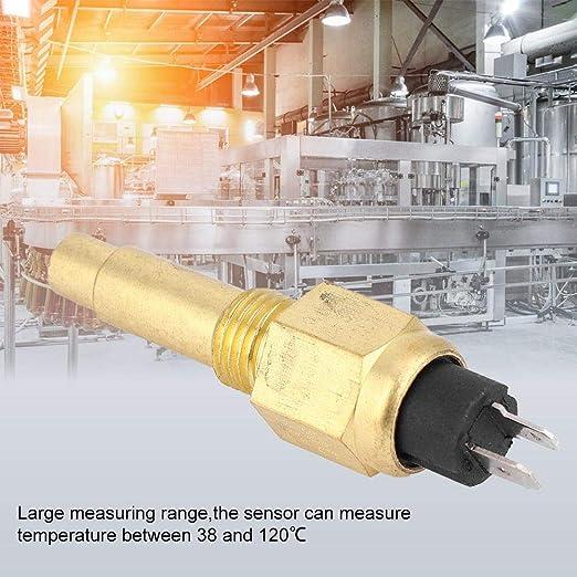 3//8  NPT 98 Sensor Sensor de temperatura del agua del motor apto para VDO 6~24V Accesorio del motor Sensor de temperatura de refrigerante de repuesto