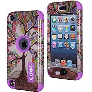 Candywe iPhone 5 Case,flower iphone 5 case,iPhone 5S Purple Case,5S Case,5S Flowers Case,5S Hybrid Case,Beautiful Flowers Print 3in1 Hybrid Hard Case Cover For iPhone 5 5S For Girls For Boys