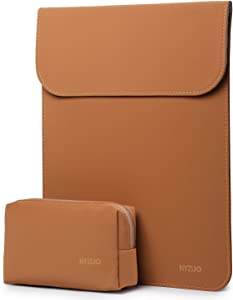 HYZUO 15-16 Inch Laptop Sleeve Case Compatible with 2019 MacBook Pro 16 A2141/ Surface Laptop 3 15 Inch / Dell XPS 15 / 2012-2015 Old MacBook Pro Retina 15 A1398, Brown