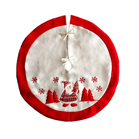 Levoberg couvre pie Árbol Navidad Bordado Falda Árbol de Navidad ...