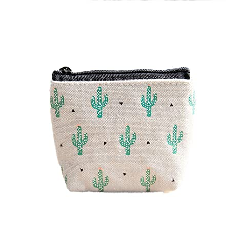 HJDQ Lienzo Efectivo Monedero - Mini Cactus Estilo Bolsa de ...