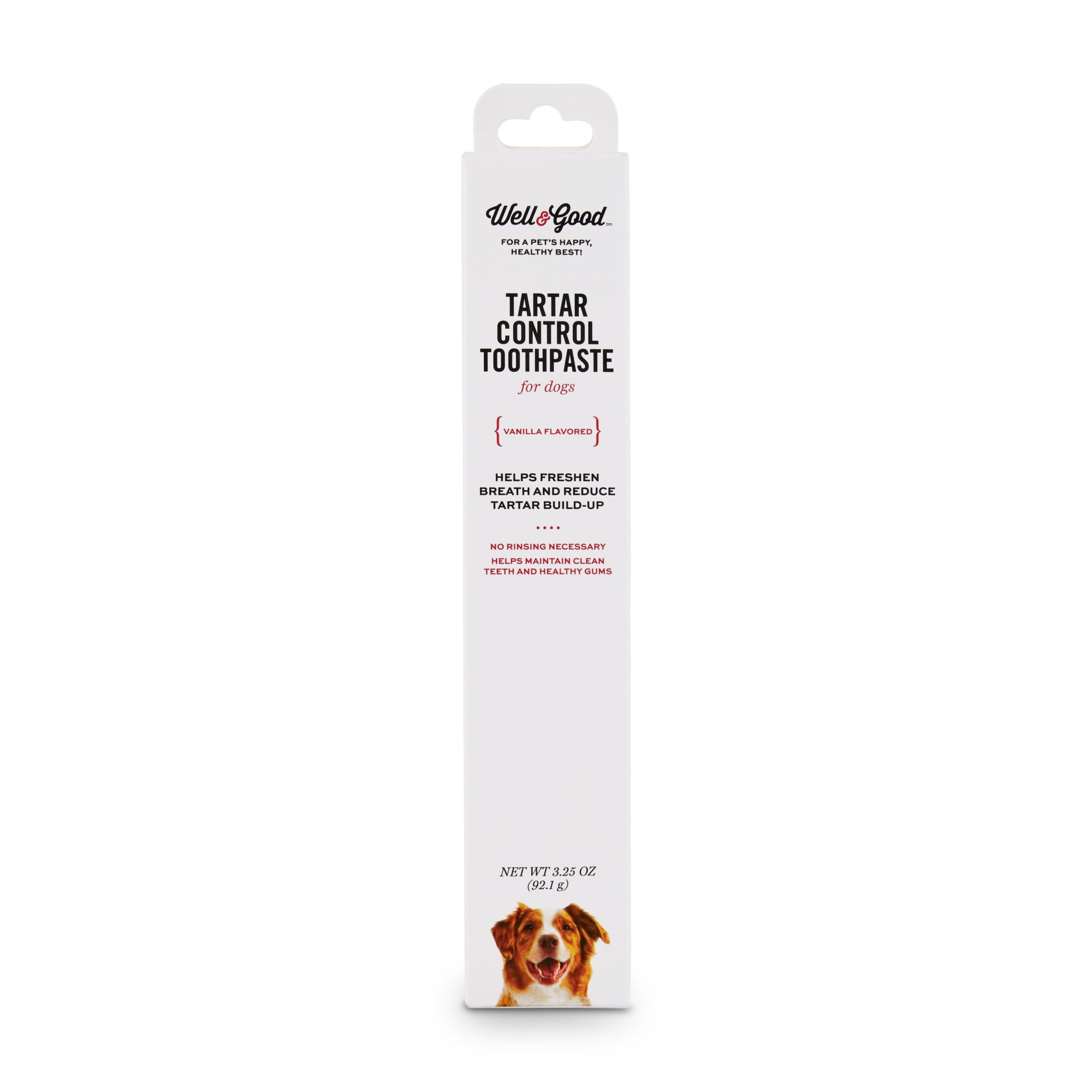 Well & Good Vanilla Flavored Tartar Control Dog Toothpaste, 3.25 oz. by Well & Good