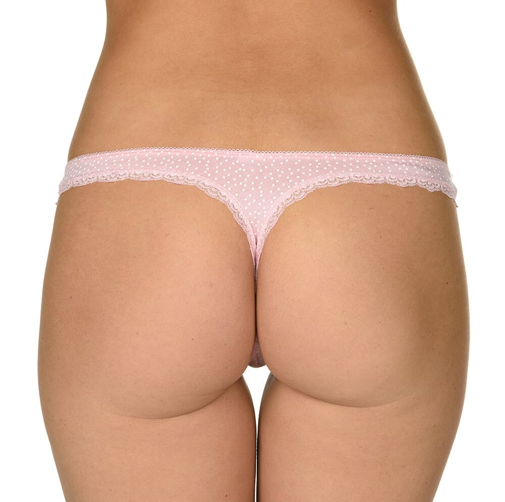 Velvet Kitten On Your Side Pretty Pink Thong Women s Panty No Show ... 80a4a9bd2