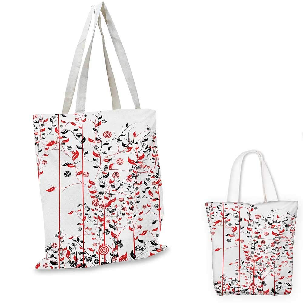 14x16-11 Floral canvas messenger bag Romantic Blooming Spring Flowers with Ornamental Swirled Branches and Foliage Leaves canvas beach bag Multicolor