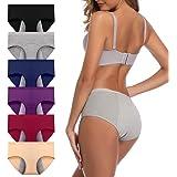 JojoQueen Womens Underwear, Menstrual Period Underwear for Women Girls Cotton Panties Mid Waist Comfortable Easy Clean Briefs
